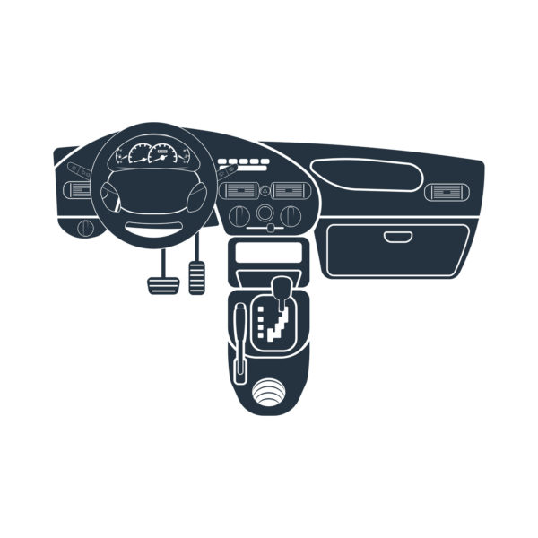 dashboard, manual transmission, hand parking brake, isolated icon on white background, auto service, repair, car detail,